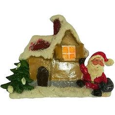 2 Дед мороза, Домик 12,6*11,8*2,5 см, 3 в ассорт Mag2000
