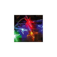 Светодиодная гирлянда, 20Л-220V, размеры звездочек: 5*5см, внутренняя Mag2000