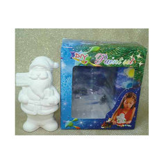Набор для детского творчества, керамика, дед мороз 8,5*6,5*14 см, 6 красок, в синей коробке 15*6*17 см Mag2000