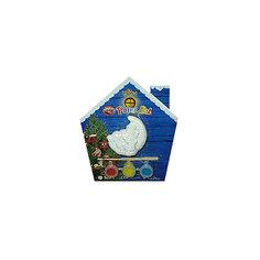 Набор для детского творчества, керамика, месяц - 7*3*7 см, 3 краски, в синей коробке  14*14 см Mag2000
