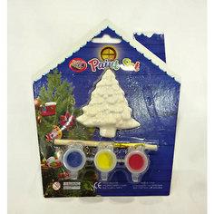 Набор для детского творчества, керамика, ёлка, 3 краски, в синей коробке  15*3,5*18 см Mag2000