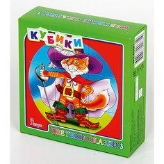 """Кубики """"Цветные сказки-3"""" (без обклейки) 9 шт Десятое королевство"""