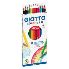 """Цветные карандаши Giotto """"Colors"""" шестигранные, 12 цветов"""