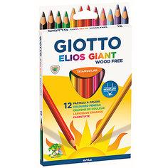"""Цветные карандаши Giotto """"Elios Giant"""" утолщенные, 12 цветов"""