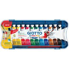 """Гуашь Giotto """"Extra Fine Poster Paint"""", 12 цветов"""