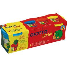 """Масса для моделирования Giotto """"Bebe Super Modeling Dough"""" 3 цвет по 220 гр"""