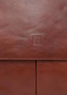 Кожаная сумка с откидным клапаном Sergio Belotti