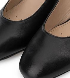 Черные кожаные туфли на каблуке Geox