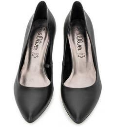 Кожаные туфли на каблуке S.Oliver