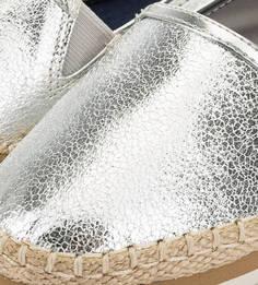 Летние слипоны серебристого цвета Hilfiger Denim