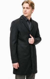 Серое пальто с карманами Selected