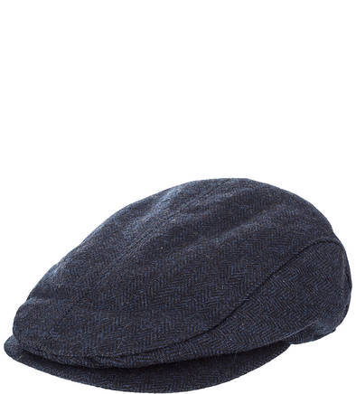 Синяя кепка с высоким содержанием шерсти