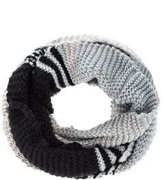 Вязаный шарф-хомут в полоску Buff
