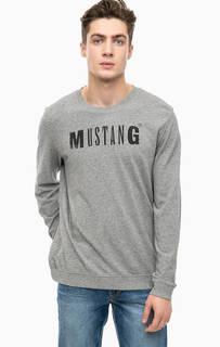 Хлопковая футболка с логотипом бренда Mustang