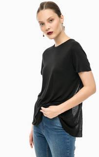 Черная футболка с разрезом сзади Cheap Monday