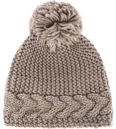 Коричневая шапка с помпоном и подкладкой Capo