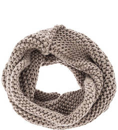 Коричневый вязаный шарф-хомут Capo