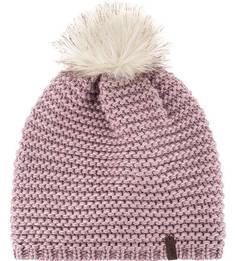Сиреневая вязаная шапка с помпоном Capo