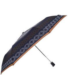 """Синий складной зонт с системой """"антиветер"""" Doppler"""