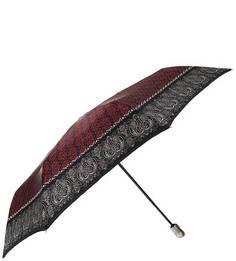 Складной зонт с красным куполом из сатина Doppler