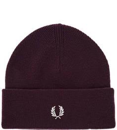 Фиолетовая шерстяная шапка Fred Perry
