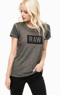 Серая футболка с короткими рукавами G Star RAW