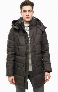 Серая зимняя куртка с капюшоном Tom Tailor