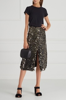 Шелковая юбка с пайетками Aquilano.Rimondi