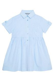 Хлопковое платье в клетку My Junior