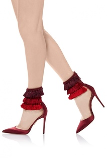 Сатиновые туфли Aquazzura x Claudia Schiffer