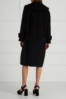 Буклированное пальто из мохера и шерсти Miu Miu
