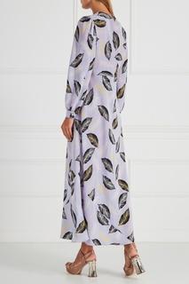 Шелковое платье с завязками Miu Miu