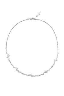 Серебряное колье-чокер с фианитами Caviar Jewellery