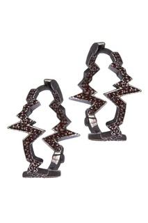 Серебряные серьги-кольца Caviar Jewellery