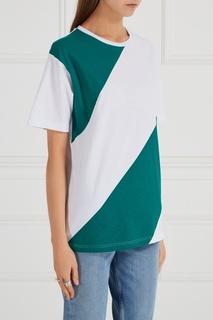 Хлопковая футболка в полоску Blank.Moscow
