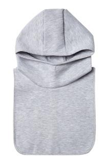 Хлопковый капюшон серый Blank.Moscow