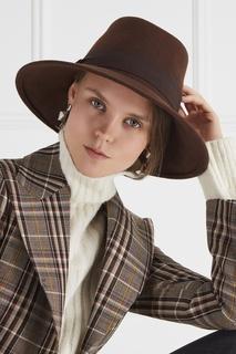 Коричневая фетровая шляпа MAX Mara