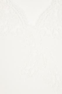 Хлопковый джемпер с кружевом Ermanno Ermanno Scervino