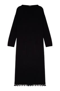 Шерстяное платье с помпонами Max Mara Weekend