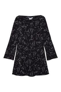 Платье с контурным принтом Sportmax Code