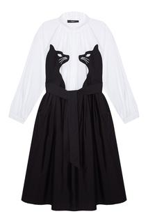Платье-рубашка с контрастной аппликацией Max Mara Weekend