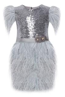 Платье с перьями Silver Baby Balloon and Butterfly