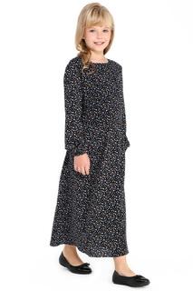 Длинное платье с принтом горошек FINN FLARE KIDS