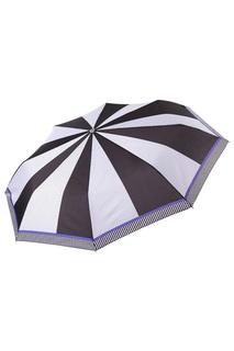 Складной зонт автомат в горошек Fabretti