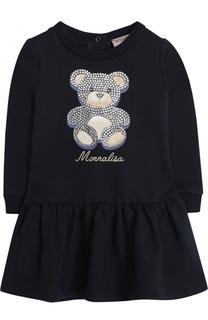 Мини-платье со стразами Monnalisa
