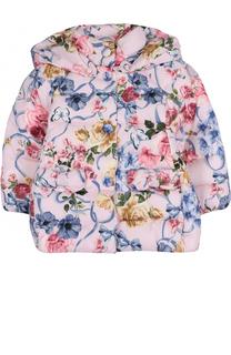 Куртка с принтом и капюшоном Monnalisa