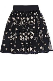 Многослойная юбка с принтом в виде звезд Monnalisa