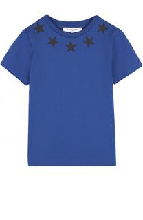 Хлопковая футболка с аппликациями Givenchy