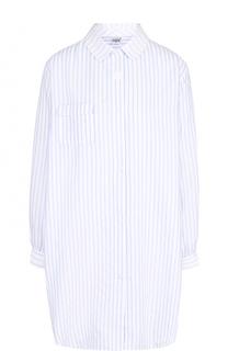 Хлопковая сорочка свободного кроя в полоску Celestine