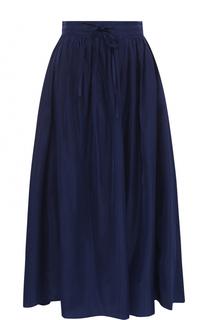 Однотонная юбка-миди с широким поясом Kenzo